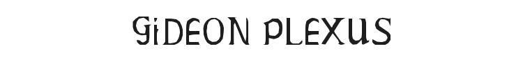 Gideon Plexus Font Preview