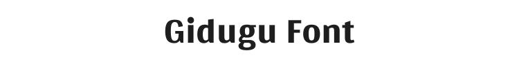 Gidugu Font Preview