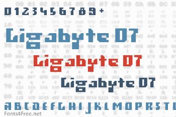 Gigabyte 07 Font