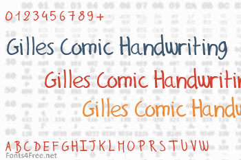 Gilles Comic Handwriting Font