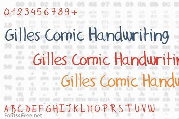 Gilles Comic Handwriting Font