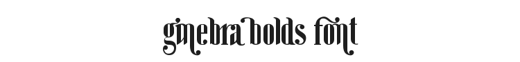 Ginebra Bolds Font Preview
