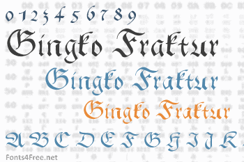 Gingko Fraktur Font