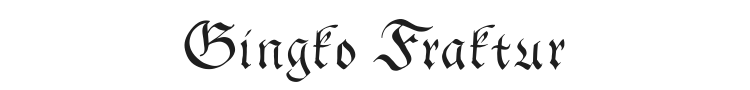 Gingko Fraktur Font Preview