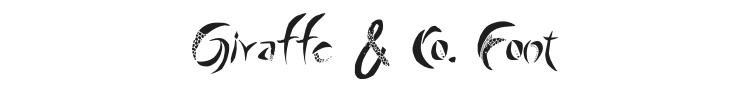 Giraffe & Co. Font Preview
