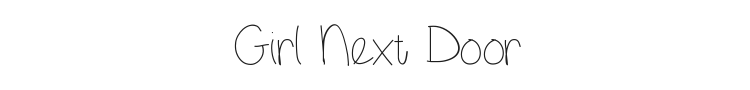 Girl Next Door Font Preview
