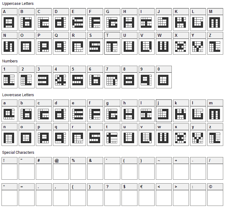 Give Me 5 Font Character Map