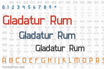 Gladatur Rum Font