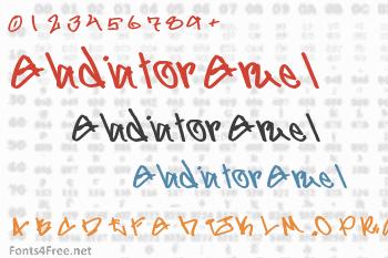 Gladiator Gruel Font