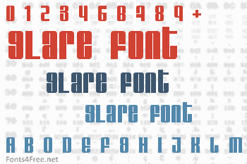 Glare Font