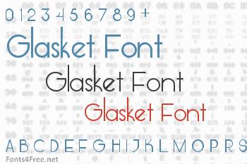 Glasket Font