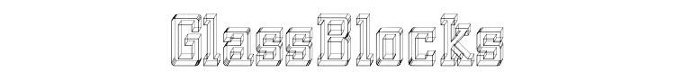 GlassBlocks Font Preview