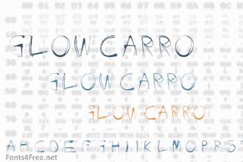 Glow Carro Danish SWpiik Font