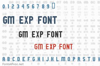 GM Exp Font