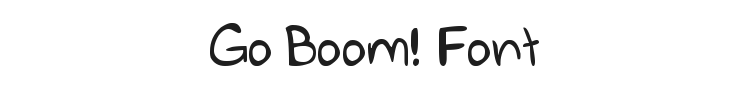 Go Boom! Font Preview