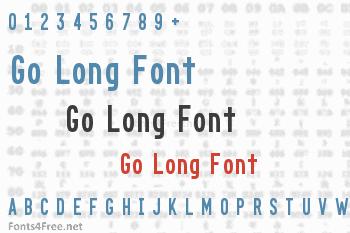 Go Long Font