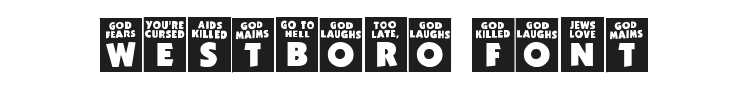 God Hates Westboro Font Preview