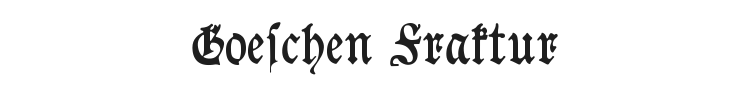 Goeschen Fraktur Font Preview