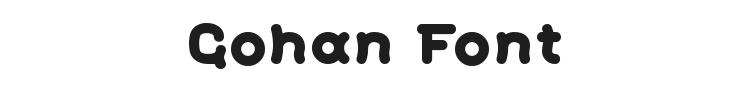 Gohan Font