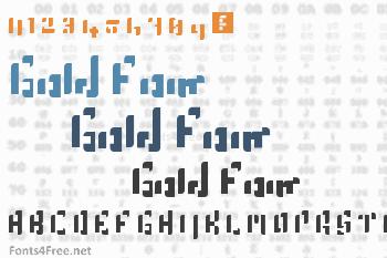 Gold Font