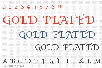 Gold Plated Font