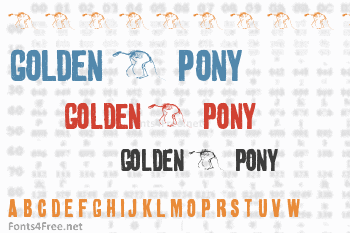 Golden 0 Pony Font
