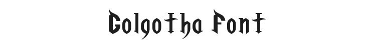 Golgotha Font Preview