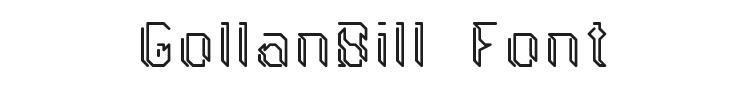 GollanBill Font Preview