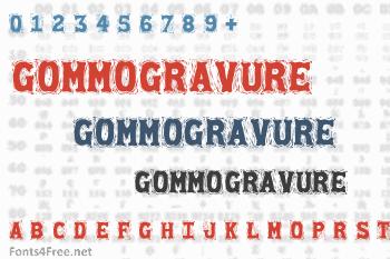 Gommogravure Font