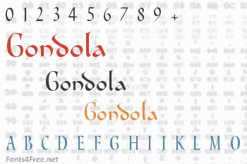 Gondola Font