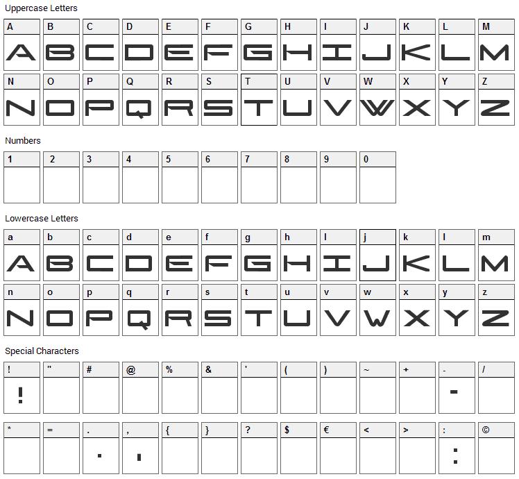 Gonzales Sans Font Character Map