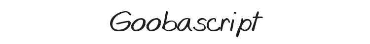 Goobascript Font Preview
