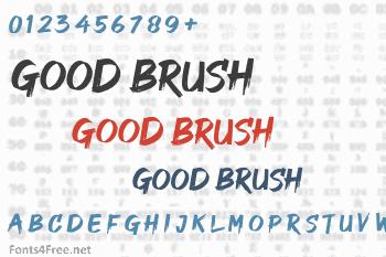 Good Brush Font