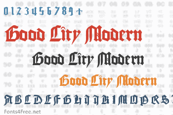 Good City Modern Font