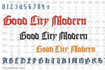 Good City Modern Font