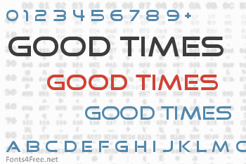 Good Times Font