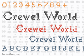 Goodbye Crewel World Font