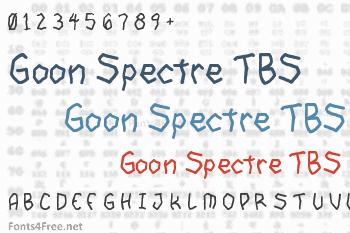 Goon Spectre TBS Font