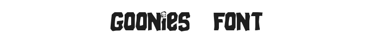 Goonies Font Preview