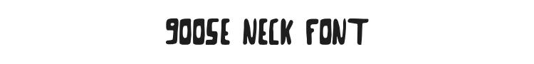 Goose Neck Font