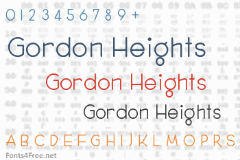 Gordon Heights Font