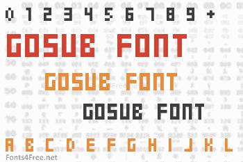 Gosub Font