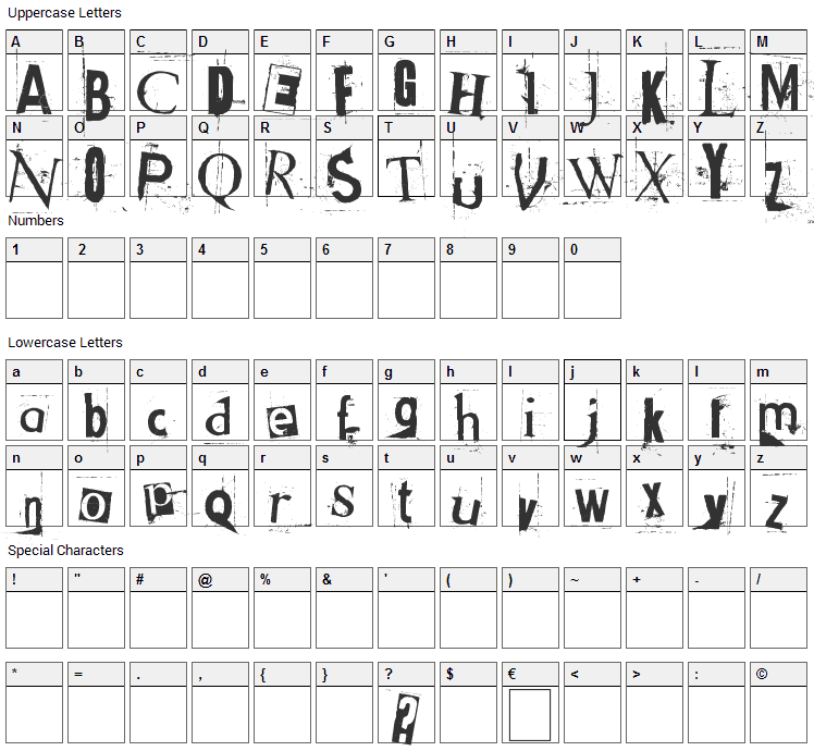 Got heroin? Font Character Map