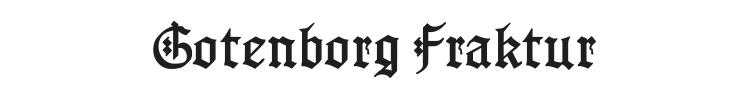 Gotenborg Fraktur Font Preview