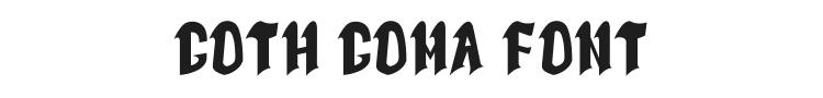 Goth Goma Font