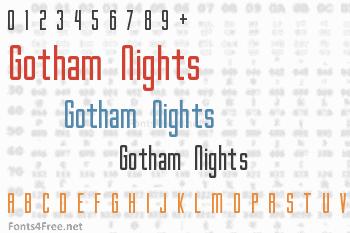 Gotham Nights Font