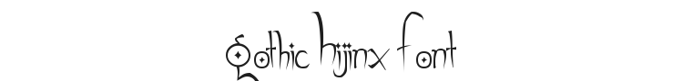 Gothic Hijinx Font Preview
