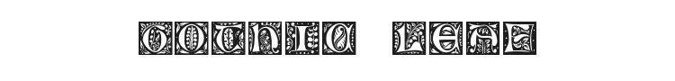 Gothic Leaf Font