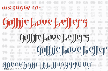 Gothic Love Letters Font
