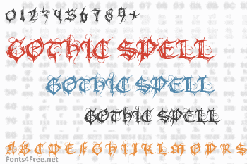 Gothic Spell Font